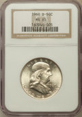 Franklin Half Dollars: , 1960-D 50C MS65 NGC. NGC Census: (516/9). PCGS Population (361/5).Mintage: 18,215,812. Numismedia Wsl. Price for problem f...