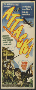 """Movie Posters:Documentary, Attack! The Battle for New Britain (RKO, 1944). Insert (14"""" X 36""""). Documentary. ..."""