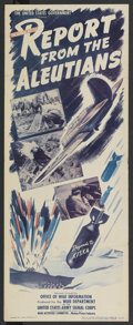 """Movie Posters:Documentary, Report from the Aleutians (MGM, 1943). Insert (14"""" X 36""""). War Documentary. ..."""