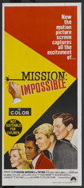 "Movie Posters:Action, Mission: Impossible vs. the Mob (Paramount, 1968). AustralianDaybill (13"" X 30""). Action.. ..."