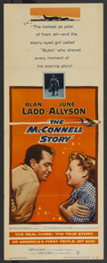 "Movie Posters:Action, The McConnell Story (Warner Brothers, 1955). Insert (14"" X 36""). Action. ..."