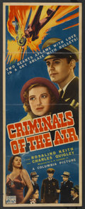 "Movie Posters:Action, Criminals of the Air (Columbia, 1937). Insert (14"" X 36""). Action. ..."
