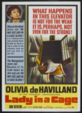 "Movie Posters:Drama, Lady in a Cage (Paramount, 1964). One Sheet (27"" X 41""). Thriller...."