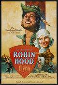 "Movie Posters:Adventure, The Adventures of Robin Hood (Warner Brothers, R-1989). One Sheet(27"" X 41""). Adventure. Special poster for the 50th annive..."
