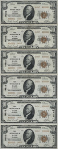 National Bank Notes:Colorado, Eads, CO - $10 1929 Ty. 2 The First NB Ch. # 14213 Uncut Sheet. ...