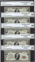 National Bank Notes:Pennsylvania, Middleburgh, PA - $10 1929 Ty. 2 The First NB Ch. # 4156. ...(Total: 5 notes)