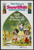 "Movie Posters:Animated, Snow White and the Seven Dwarfs (Buena Vista, R-1975). AustralianOne Sheet (27"" X 40""). Animated. ..."