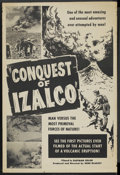 """Movie Posters:Documentary, Conquest of Izalco (Unknown, 1950s). One Sheet (28"""" X 42""""). Documentary. ..."""