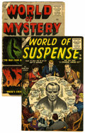Golden Age (1938-1955):Horror, World of Suspense #1 and World of Mystery #2 Group (Atlas,1956).... (Total: 2 Comic Books)