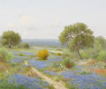 Texas:Early Texas Art - Impressionists, PORFIRIO SALINAS (1910-1973). Untitled Bluebonnet Path,1957. Oil on canvas. 25 x 30 inches (63.5 x 76.2 cm). Signed and...