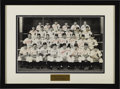 Autographs:Photos, 1945 Detroit Tigers Team Signed Large Photograph. With Japan's surrender in early August signaling the conclusion of the Se...
