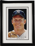 Autographs:Photos, Early 1990's Mickey Mantle Signed UDA Large Photograph. Masterfulcolor portrait of the Mick near the close of his Hall of ...