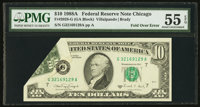 Fr. 2028-G $10 1988A Federal Reserve Note. PMG About Uncirculated 55 EPQ