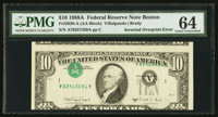 Fr. 2028-A $10 1988A Federal Reserve Note. PMG Choice Uncirculated 64