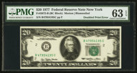 Fr. 2072-B $20 1977 Federal Reserve Note. PMG Choice Uncirculated 63 EPQ