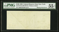 Fr. 2175-B $100 1996 Federal Reserve Note. PMG About Uncirculated 55 EPQ