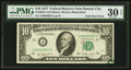 Error Notes:Foldovers, Fr. 2023-J $10 1977 Federal Reserve Note. PMG Very Fine 30 EPQ.....