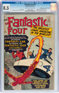 Silver Age (1956-1969):Superhero, Fantastic Four #3 Don/Maggie Thompson Collection pedigree (Marvel,1962) CGC VF+ 8.5 Off-white to white pages....