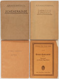 Books:Music & Sheet Music, [Music]. N. Rimsky-Korsakow. Four Music Scores. Leipzig: Variouspublishers, [nd]. One in original wrappers. Three wrappers ...(Total: 4 Items)
