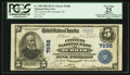 National Bank Notes:North Carolina, Durham, NC - $5 1902 Plain Back Fr. 598 The Citizens NB Ch. # 7698. ...