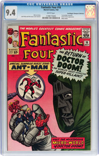 Fantastic Four #16 Don/Maggie Thompson Collection pedigree (Marvel, 1963) CGC NM 9.4 White pages