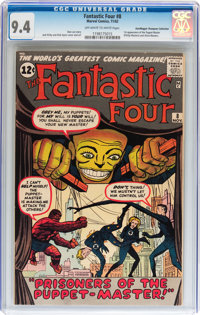 Fantastic Four #8 Don/Maggie Thompson Collection pedigree (Marvel, 1962) CGC NM 9.4 Off-white to white pages