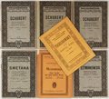 Books:Music & Sheet Music, [Music]. Schubert, Tschaikovsky, and others. Seven Bound Books ofSheet Music. Wien and Leipzig: Various Publishers, [nd]. O...(Total: 7 Items)