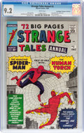 Silver Age (1956-1969):Superhero, Strange Tales Annual #2 Don/Maggie Thompson Collection pedigree(Marvel, 1963) CGC NM- 9.2 White pages....