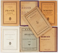 Books:Music & Sheet Music, [Music]. Debussy, Ravel, Franck, and others. Seven Books of Sheet Music. New York or Leipzig: Various Publishers, [nd]. Vari... (Total: 7 Items)