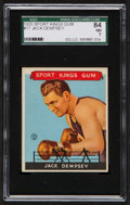 Boxing Cards:General, 1933 Sport Kings Jack Dempsey #17 SGC 84 NM 7....