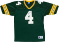 Football Collectibles:Uniforms, Brett Favre Signed Green Bay Packers Jersey (Signed Twice). ...