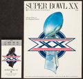 Football Collectibles:Tickets, 1986 Super Bowl XX Ticket Stub and Program....