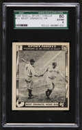 "Baseball Cards:Singles (1940-1949), 1948 Swell Gehrig/Ruth ""Most Dramatic Home Run"" #12 SGC 80 EX/NM6...."
