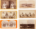 American Indian Art:Photographs, SIX PLAINS INDIAN SUBJECTS STEREOVIEWS, VARIOUS PHOTOGRAPHERS...(Total: 6 Items)