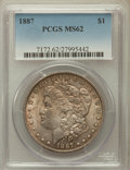 Morgan Dollars: , 1887 $1 MS62 PCGS. PCGS Population (7752/116760). NGC Census:(8989/159944). Mintage: 20,290,710. Numismedia Wsl. Price for...