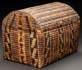 American Indian Art:Baskets, A NORTHWEST COAST IMBRICATED STORAGE TRUNK...