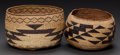 American Indian Art:Baskets, TWO NORTHERN CALIFORNIA TWINED BOWLS... (Total: 2 Items)