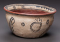 American Indian Art:Pottery, A TESUQUE BLACK-ON-BUFF BOWL. c. 1900...