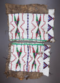 American Indian Art:Beadwork and Quillwork, A PAIR OF SIOUX WOMAN'S BEADED HIDE LEGGINGS...