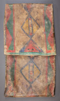 American Indian Art:Pipes, Tools, and Weapons, A CROW PAINTED PARFLECHE CASE. c. 1890...