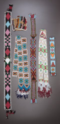 American Indian Art:Beadwork and Quillwork, FIVE GREAT LAKES LOOM-BEADED ITEMS. c. 1900... (Total: 5 Items)
