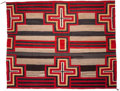 American Indian Art:Weavings, A NAVAJO THIRD PHASE CHIEF'S PATTERN RUG. c. 1910...