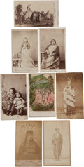American Indian Art:Photographs, EIGHT NATIVE VIEWS, CARTE DE VISITES BY VARIOUS PHOTOGRAPHERS...(Total: 8 )
