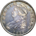 "Bust Half Dollars, 1818 50C XF45 NGC. O-104a, R.3. Ex: ""Col."" E.H.R. Green. Lowerobverse cracks identify the later Overton die state. Luster ..."