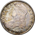 "Bust Half Dollars, 1818 50C VF35 NGC. O-108, R.1. Ex: ""Col."" E.H.R. Green. Lovelyautumn-brown, sea-green, and lavender toning embraces this C..."