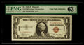 Small Size:World War II Emergency Notes, Fr. 2300 $1 1935A Hawaii Silver Certificate. PMG Choice Uncirculated 63 EPQ.. ...