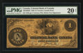 Canadian Currency: , Toronto, ON- Colonial Bank of Canada $1 May 4, 1859 Charlton130-10-02-02. ...