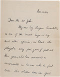 Autographs:U.S. Presidents, John F. Kennedy: Autograph Letter Signed, 1934....