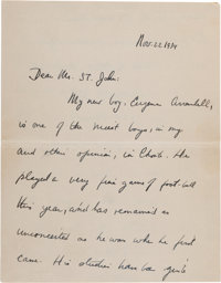 John F. Kennedy: Autograph Letter Signed, 1934