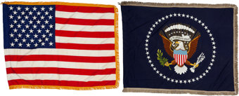 Featured item image of John F. Kennedy: Two White House Oval Office Flags.... (Total: 7 Items)
